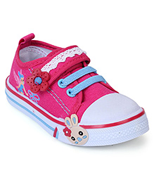 Cute Walk Canvas Shoes Floral Motif - Pink
