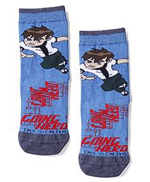 Mustang Ankle Length Socks Ben 10 Design - Blue