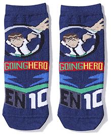 Ben 10  Ankle Length Socks  - Navy