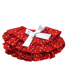 D'chica Star Ruffle Bloomer Skirt - Red