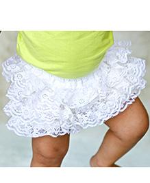 D'chica Net Frilly Skirt - Cream