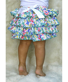 D'chica by Vani & Richa Frilly Floral Skirt - Multicolour