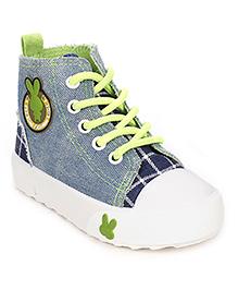 Cute Walk Canvas Shoes - Light Blue