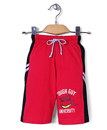 Taeko Tough Guy Print 3/4th Pant - Red