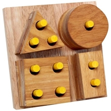 Little Genius - Wooden Shape & Stacking Board