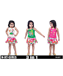 N-XT Top And Skirt Combo Set Multicolor - Set Of 3 Tops And Skirt
