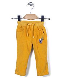 Jash Kids Pull On Corduroy Pants With Drawstring - Yellow