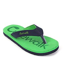 Cute Walk by Babyhug Flip Flops - Green