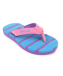 Cute Walk by Babyhug Flip Flops - Blue Pink