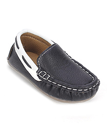 Cute Walk Party Wear Loafer Shoes - Black