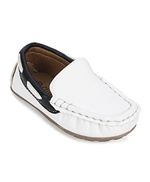 Cute Walk Party Wear Loafer Shoes - White