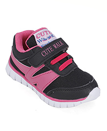 Cute Walk by Babyhug Sports Shoes Velcro Closure - Pink And Black