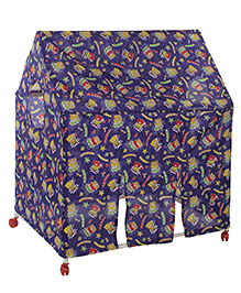 Lovely Play Tent House Kitty Print - Purple