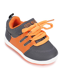 Cute Walk Casual Shoes - Dark Grey Orange