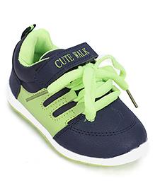 Cute Walk Casual Shoes - Navy Green