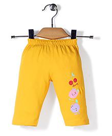 Tango Leggings Fruits Print - Yellow