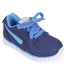 Cute Walk Sport Shoes Lace Up Style - Navy Blue
