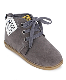 Cute Walk Party Shoes Lace Up Style - Grey
