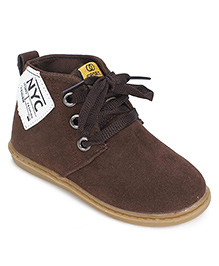 Cute Walk Party Shoes Lace Up Style - Brown