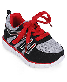 Cute Walk Sport Shoes Lace Up Style - Red And Grey