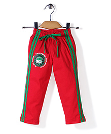 Red Ring Track Pant Ben 10 Print - Red