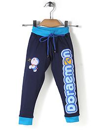 Red Ring Track Pant Doraemon Print - Navy