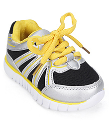 Cute Walk Sports Shoes - Black Yellow