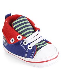 Cute Walk Baby Booties - Blue And Red