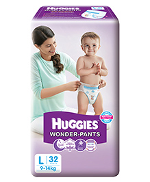 Huggies Wonder Pants Large Size Pant Style Diapers - 32 Pieces