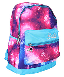 Barbie School Bag Galaxy Print Blue And Pink - 15 Inch
