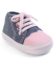 Cute Walk Shoes Style Booties - Pink Black