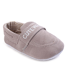 Cute Walk Shoes Style Booties - Grey