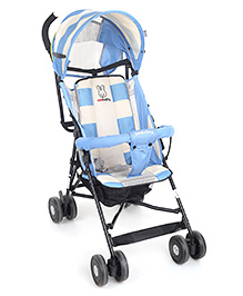 Lightweight Stroller With Canopy - Blue White