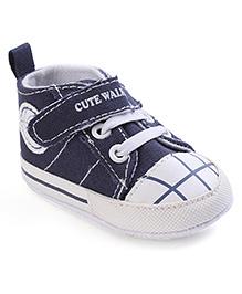 Cute Walk Shoe Style Bootie - Navy