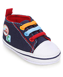 Cute Walk Shoes Style Booties Vehicle Design - Navy Blue