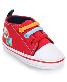 Cute Walk Shoes Style Booties Vehicle Design - Red