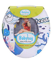 Babyhug Soft Cushioned Baby Potty Seat Ocean Print - White
