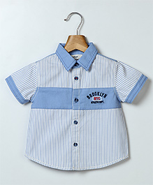 Beebay Half Sleeves Striped Shirt - Blue