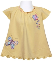 Short Sleeves Dress - Butterfly
