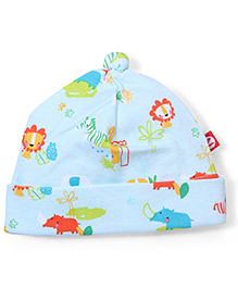 Zutano Trendy Print Adorable Cap - Green
