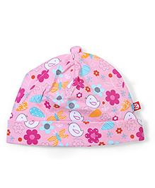 Zutano Trendy Print Adorable Cap - Pink