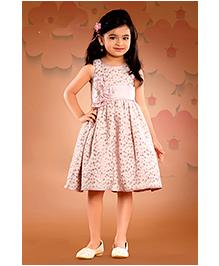 Peek a Boo Polka Dots Print Dress - Pastel Pink