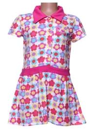 Short Sleeves Frock - Flowers