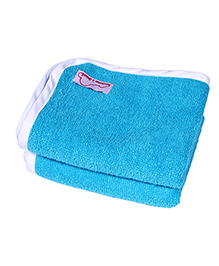 Mumma's Touch Organic Cotton & Bamboo Baby Wash Towel Pack of 2 – Aqua
