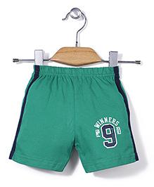Ollypop Casual Shorts 9 Print - Green