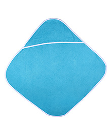 Mumma's Touch Organic Cotton And Bamboo Baby Hooded Towel - Aqua Blue