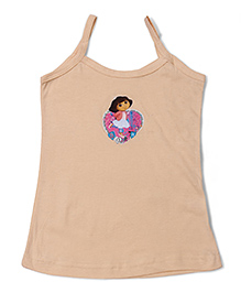 Dora Printed Singlet Slip - Beige