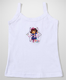 Dora Printed Singlet Slip - Cream