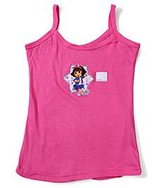 Dora Printed Singlet Slip - Dark Pink