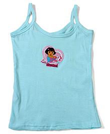 Dora Printed Singlet Slip - Light Blue